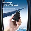 Мережевий зарядний пристрій Topk Qualcomm Quick Charge 3.0 28W 2xUSB Black (TK254Q-BL), фото 3