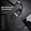 Кабель синхронизации Topk USB Type-C 1m 5A нейлоновый Черный (TK11C-VER2-BL), фото 7