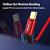 Кабель синхронізації Topk PD USB Type-C Power Delivery 60W 3A 1m нейлоновий Червоний (TKP42C-VER2-RD), фото 7