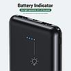 УМБ Power Bank Topk Mini 2xUSB 5000 mAh Черный (TK0503-BL), фото 7