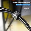 Органайзер для кабелей Topk 1m нейлоновый Черный (TKJ01-BL), фото 6