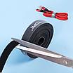 Органайзер для кабелей Topk 1m нейлоновый Черный (TKJ01-BL), фото 8