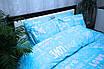 Підковдра 2-й Brettani 175х205 см Блакитний (10076), фото 5