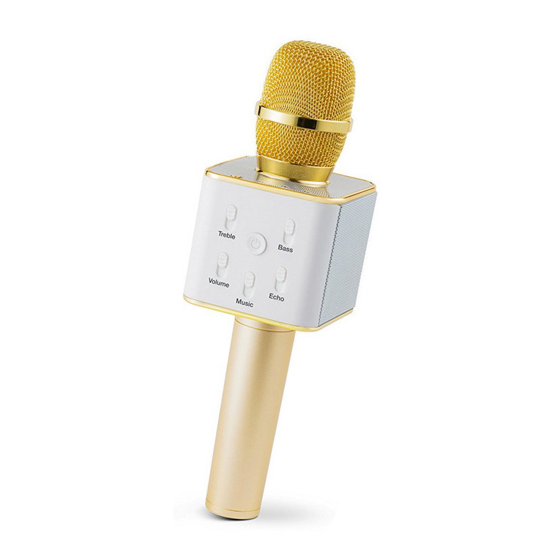 Беспроводной караоке микрофон Kronos Q7 Karaoke Gold (1185646811)