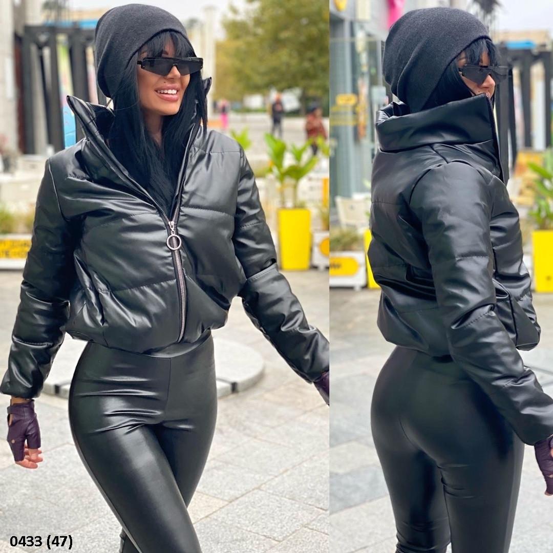 Шикарная женская куртка из эко кожи 0433 (47)