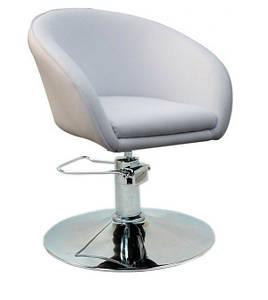 Кресло парикмахерское Мурат P SDM, гидравлическая регулировка высоты, экокожа Белая (hub_cTtO58180)