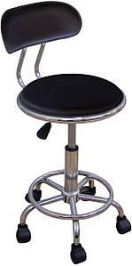 Кресло на роликах Бэйсик SDM, регулируемое по высоте, искусственный кожзам Черный (hub_cNzZ97774)