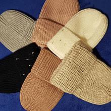 Женская белая шапка код 7374