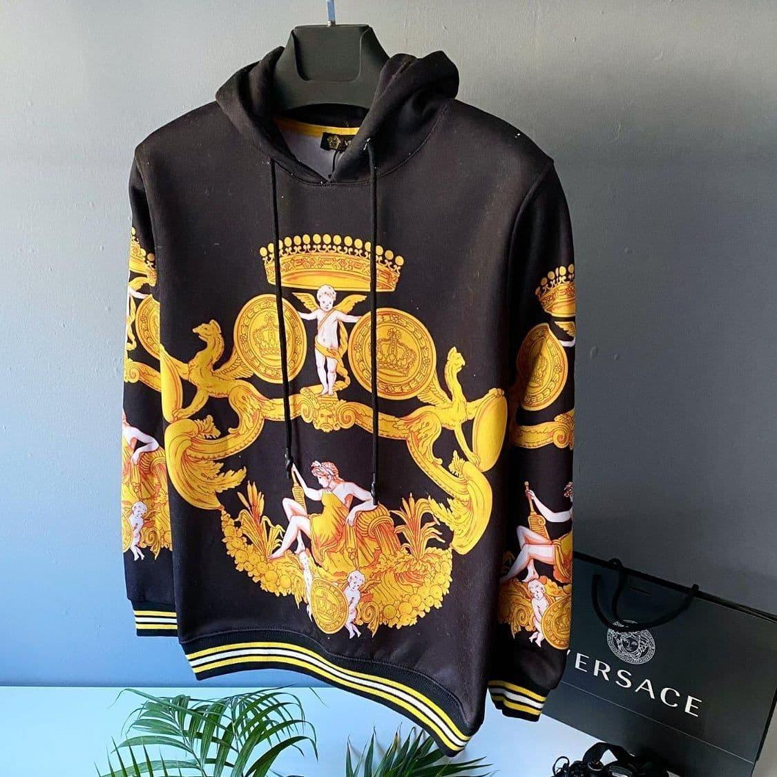 Мужская кофта худи Versace CK1504 черная