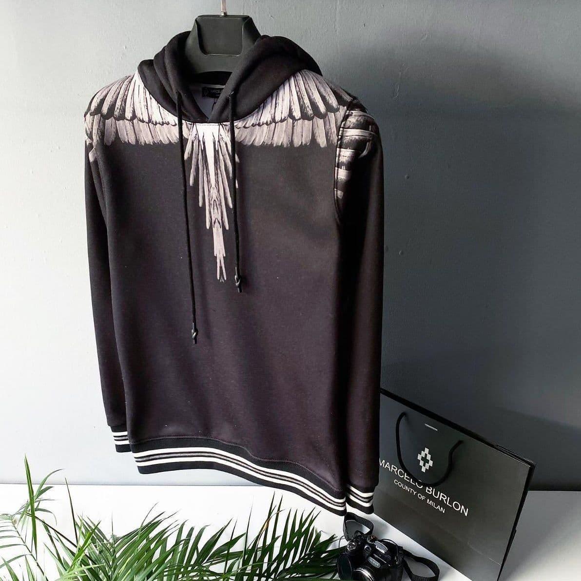 Мужская кофта худи Marcelo Burlon CK1506 черная
