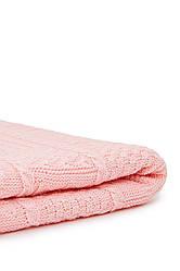 Детский вязаный плед Рич. Размер140x120. Цвет розовый. Состав 50% хлопок, 50% акрил