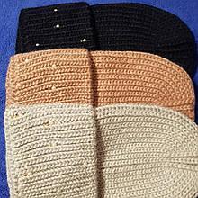 Женская  шапка темно-синяя код 7376
