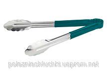 Щипцы кухонные 30 см. Winco, с пластиковыми зелеными ручками (59815)