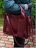 684-1-XL Натуральная кожа Сумка женская красная кожаная черная женская сумка из натуральной кожи А4 формат, фото 5