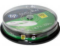 Диск HP DVD+RW 4,7 GB 4x Cake box/10
