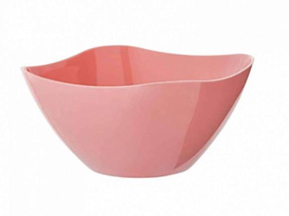 Салатник Cake 2 л (ніжно-рожевий) ТМBEROSSI, фото 2