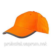 Бейсболка NEO сигнальная оранжевая, однотонная