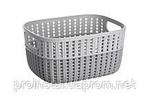 Корзинка плетеная Ardesto Sweet Home, 3л, 235*176*120 мм, серый, пластик