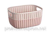 Корзина плетеная Ardesto Sweet Home, 3л, 235*176*120 мм, розовый, пластик