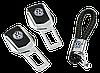 Подарочный набор заглушек ремней безопасности  VOLKSWAGEN с кожаным плетеным брелком VOLKSWAGEN (ELIT 4S6 MAX), фото 2