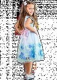 Нарядное голубое платье  для девочек, фото 4
