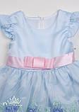 Нарядное голубое платье  для девочек, фото 5
