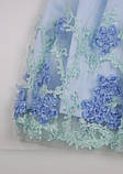 Нарядное голубое платье  для девочек, фото 7