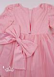 Розовое нарядное платье с длинными рукавами для  девочек 4-9 лет, фото 8