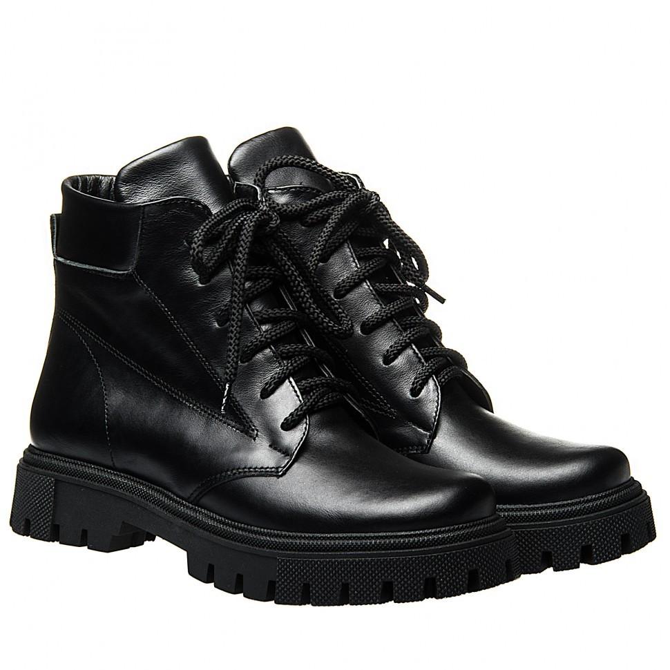 Ботинки La Rose 2327 36(23,4см) Черная кожа ЗИМНИЕ