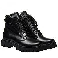 Ботинки La Rose 2327 36(23,4см) Черная кожа ЗИМНИЕ, фото 1