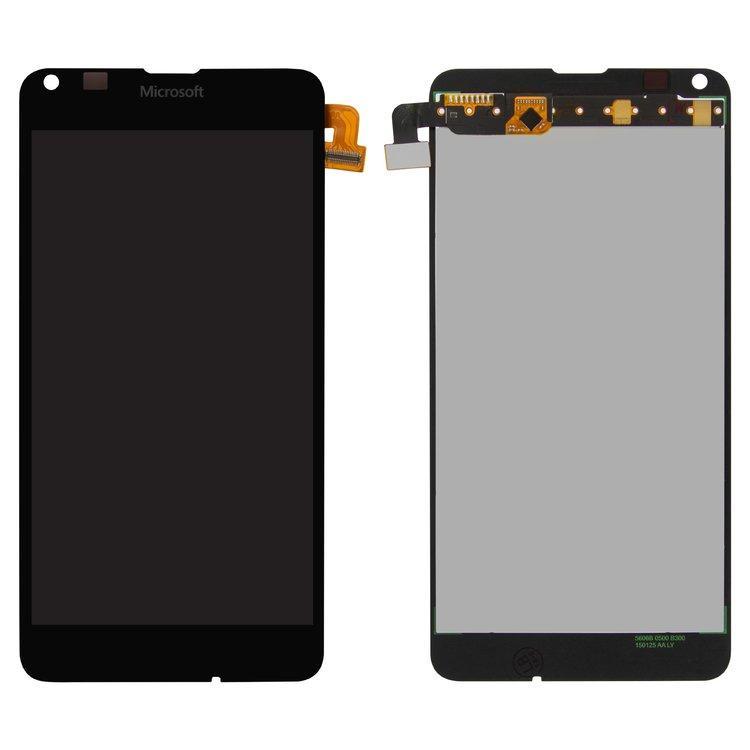 Дисплей (LCD) Microsoft (Nokia) 640 Lumia | RM-1077 с тачскрином, чёрный, оригинал (PRC)