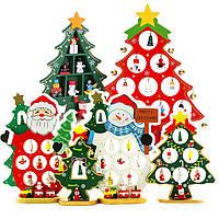Деревянная игрушка Настольная Новогодняя Елка с игрушками, развивающие товары для детей.