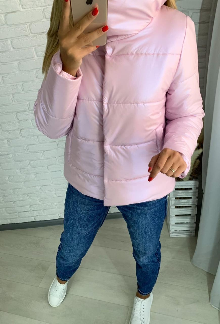 Женская стильная куртка, женская куртка, красивая женская куртка Розовый, 42