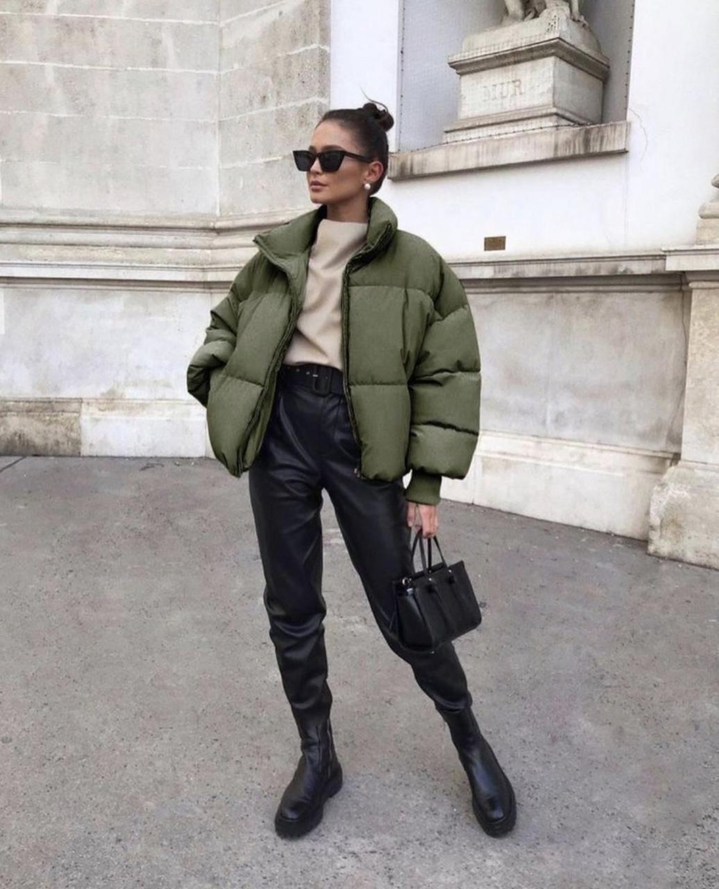 Женская стильная куртка Хаки, 42-44, 44-46