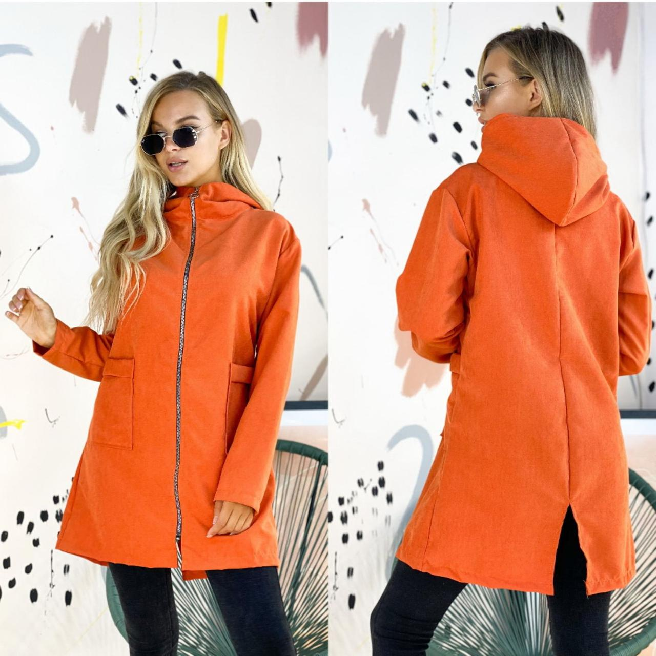 Женская удлиненная куртка, женская демисезонная куртка