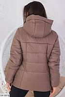 Женская демисезонная куртка на молнии больших размеров, фото 3