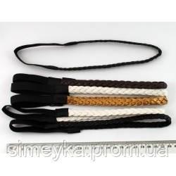 Повязка для греческой причёски на резинке, ширина 1,2 см. Кремовая