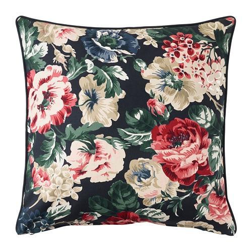 ИКЕА (IKEA) LEIKNY, 404.108.11, Чехол на подушку, черный, разноцветный, 50x50 см - ТОП ПРОДАЖ