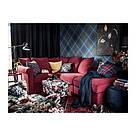 ИКЕА (IKEA) LEIKNY, 404.108.11, Чехол на подушку, черный, разноцветный, 50x50 см - ТОП ПРОДАЖ, фото 4