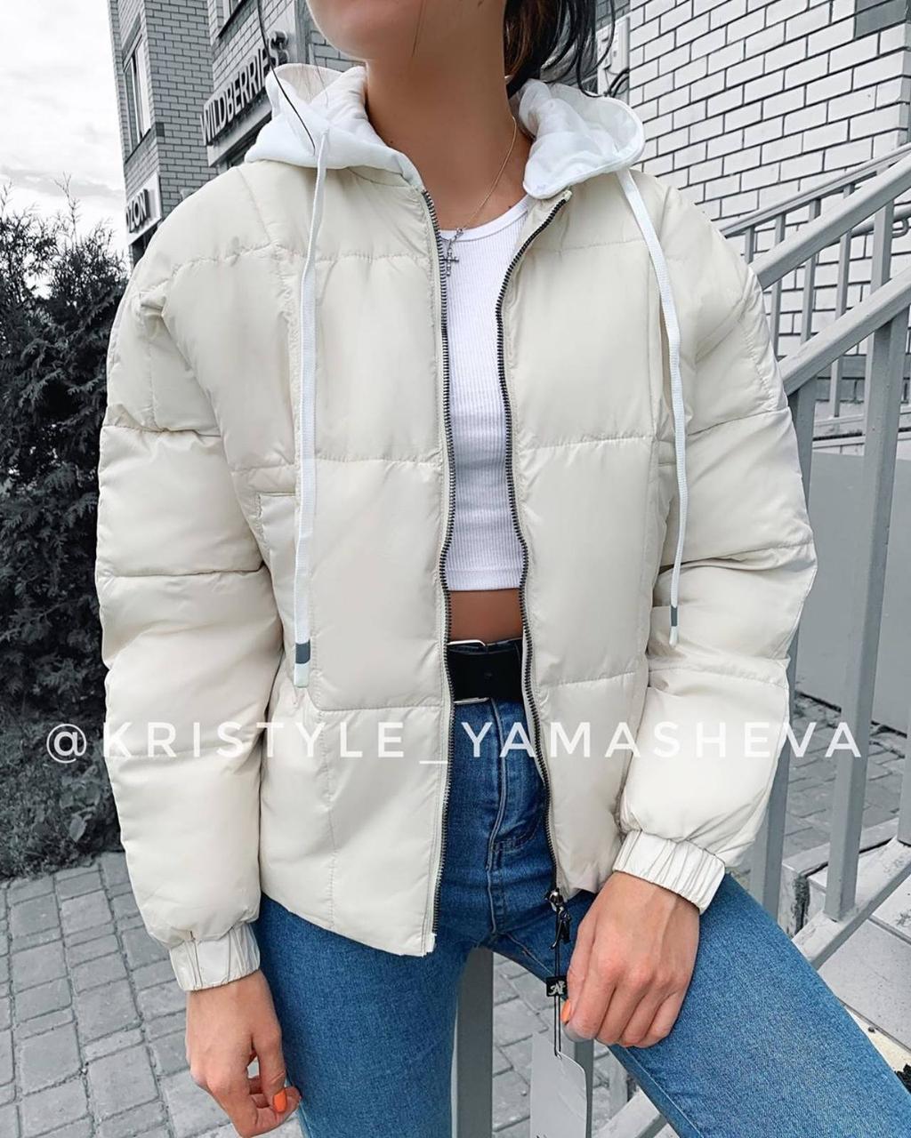 Стильная женская куртка Молоко, 42-44