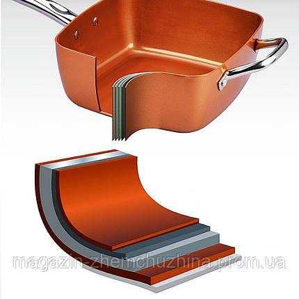 Сковорода универсальная Copper cook deep square pan, фото 2