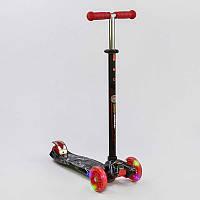 Детский Самокат для детей от 2х лет 3-х колесный, свет. колеса, ABEC-7, руль 63-86 см, Best Scooter, арт. 1318