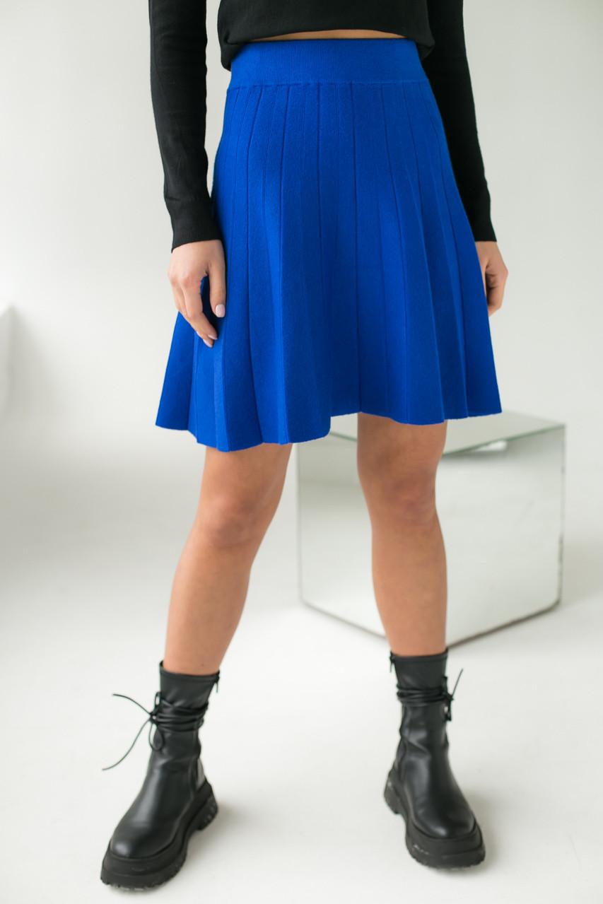 Стильная юбка клеш ebelieve - синий цвет, L/XL (есть размеры)