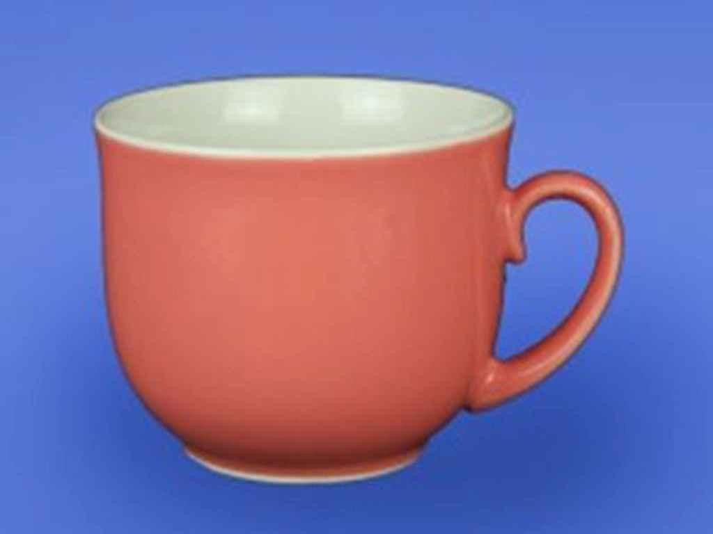 Чашка керамическая Авангард Фортуна розовая 500 мл