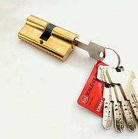 Сердцевина замка двери KALE 164 BNE 45+10+45: 100 mm латунь 5 ключей, фото 1