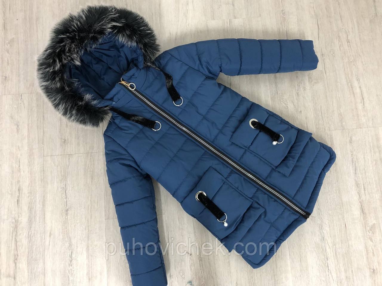 Детские зимние куртки для девочек размеры 128-146
