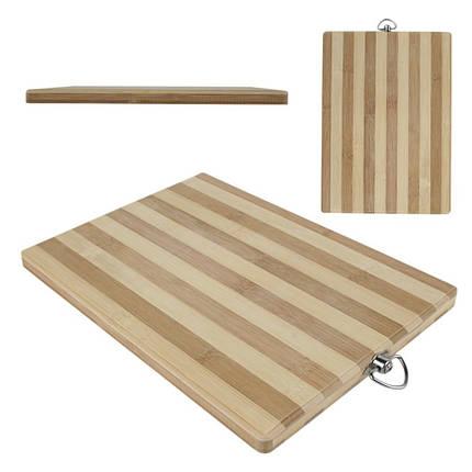 Дошка обробна бамбук 26 см*36 см товщина: 1,8 см, фото 2