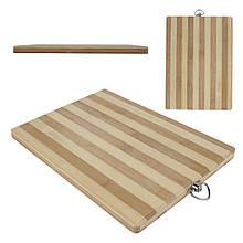 Дошка обробна бамбук 34 см*50 см толщина1,8см