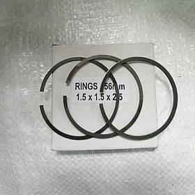 Кольцо поршневое 56 ×1,5×1,5×2,5мм HONDA 100/120 комплект Индия