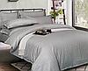 """Семейное постельное белье """"Элит"""" с простыней на резинке (14466) цветной страйп-сатин люкс KRISPOL"""